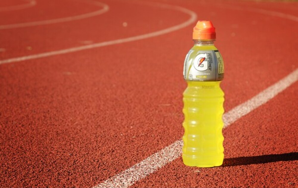 Orange Gatorade bottle